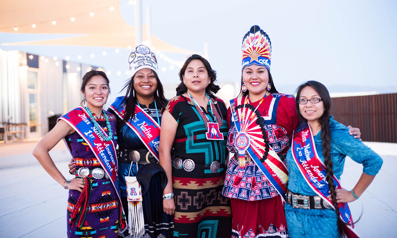 Women dressed in traditional Native American clothing
